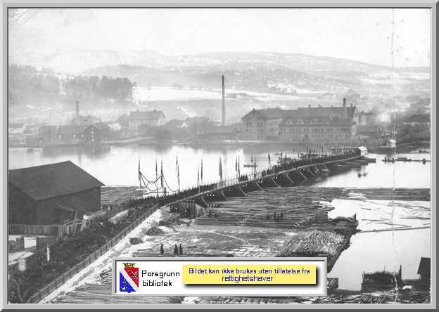 �pningen av Porsgrunnsbrua 11. desember 1891
